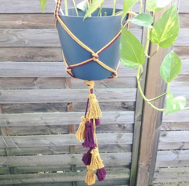 planthanger suspension plante macramé décoration d'intérieur bohème artisanat français fait main