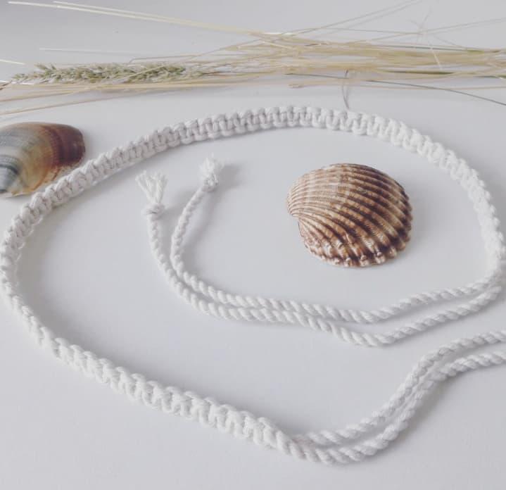 Accessoire cheveux bohème coton