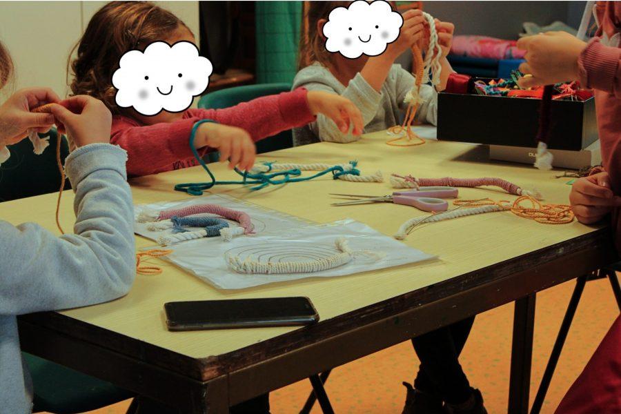 Atelier créatif, attrape-rêves, macramé