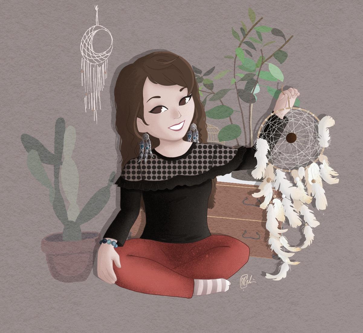Attrape-rêves artisanaux faits main en France, décoration d'intérieur, amérindien, bohème, ethnique