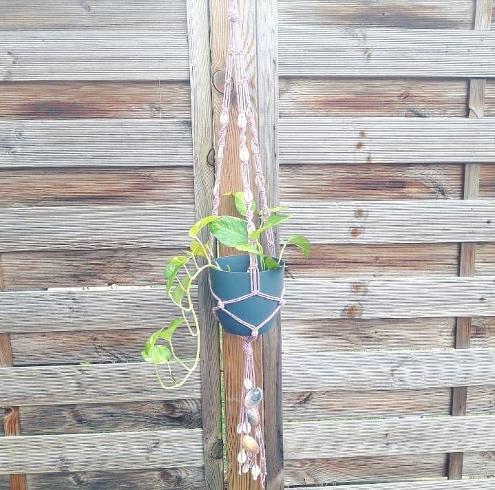 décoration intérieur bohème suspension macramé planthanger plantes pots fait main artisanal fabrication française