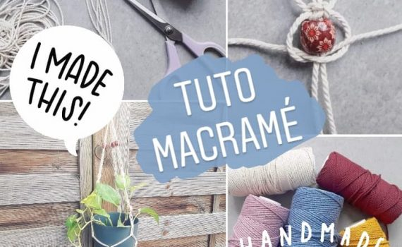 tuto diy comment faire suspension macrame plante