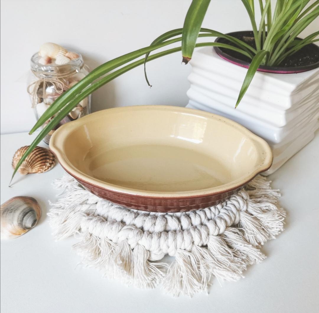 dessous de plat, sous tasse, macramé, créations artisanales, décoration d'intérieur bohème