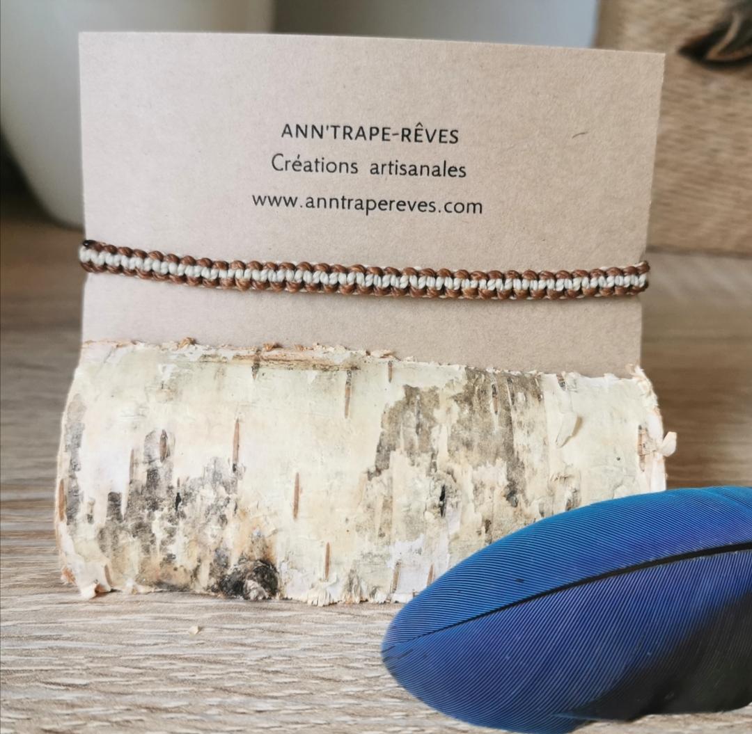 Bracelet artisanal macramé, bracelet brésilien, bijoux faits main, artisanat français
