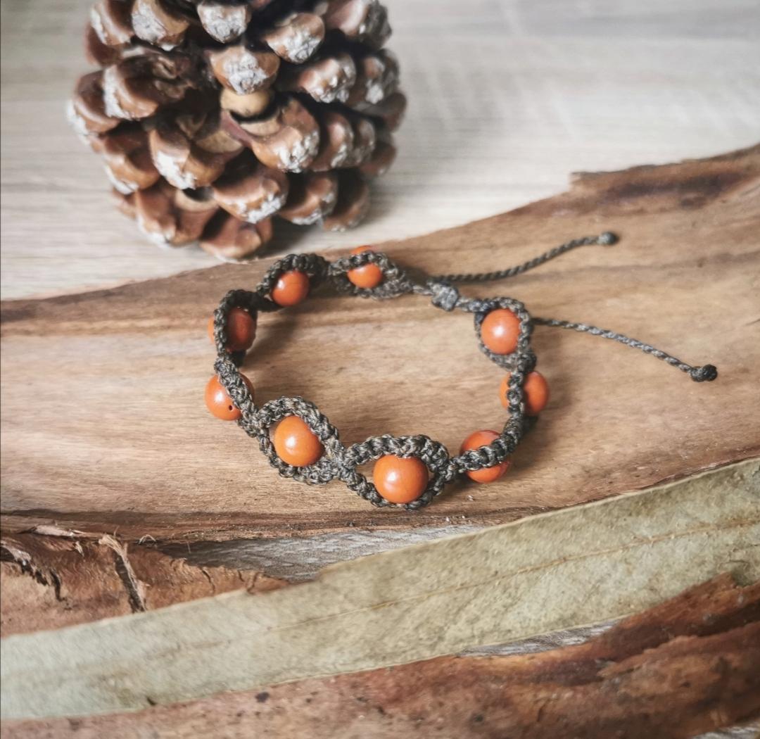 bijoux macramé pierre artisanaux faits main en france, bijoux bohèmes, hippie