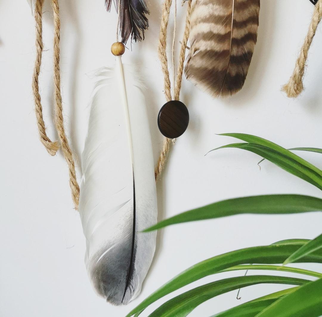 grand attrape reve naturel artisanal fait main, dreamcatcher geant, decoration murale interieur boheme, creation, artisanat