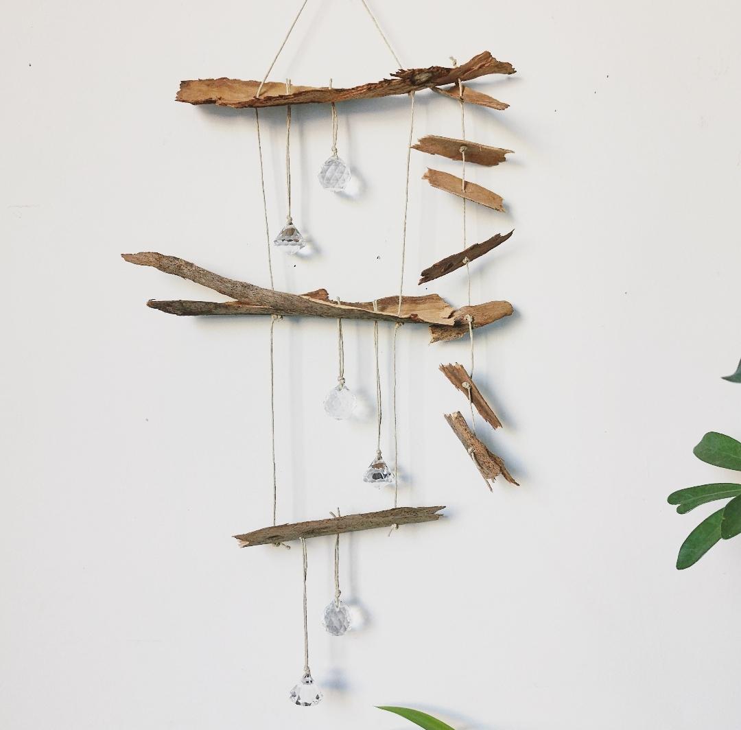 Attrape-soleil artisanal, suncatcher fait main, création unique, décoration d'intérieur, Feng shui