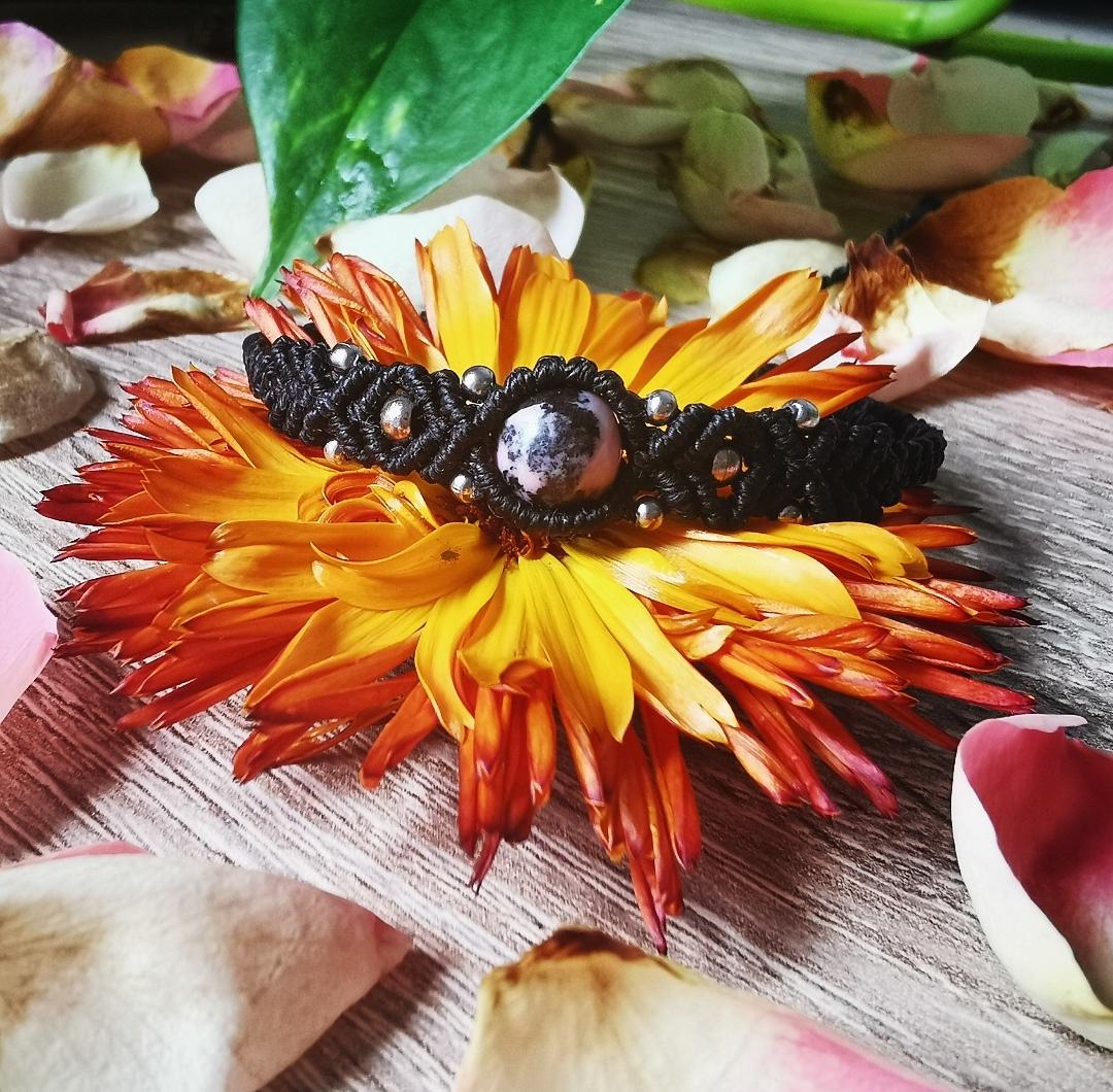 Bracelet macramé pierre fait main en France, bijoux bohèmes, hippie, artisanaux
