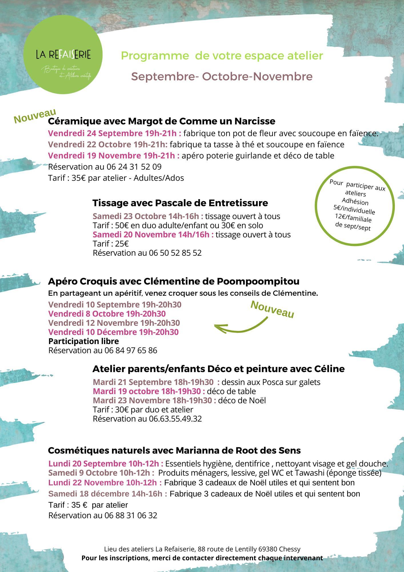 Activités Rhône-Alpes, ateliers DIY, stages créatifs